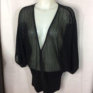 Jennifer Lopez Knit 3/4 Dolman Sleeves Top Size M